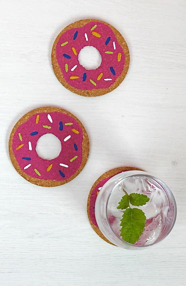 DIY Donut Coasters | HelloGlow.co