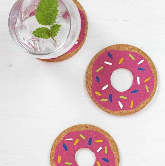 DIY: Donut Coasters
