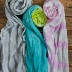 Watercolor Painted DIY Summer Scarf