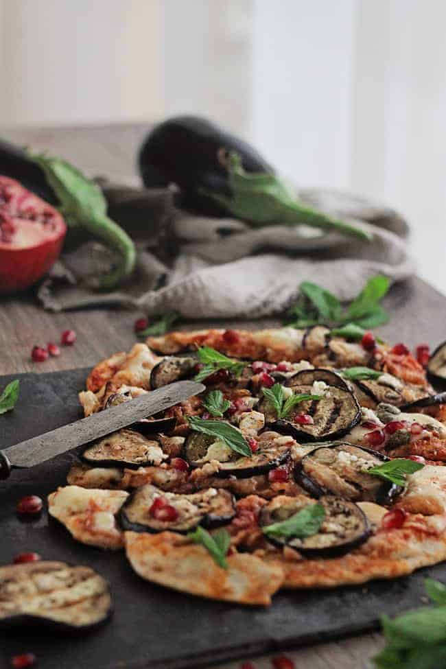 Grilled Pizza with Eggplant | HelloGlow.co