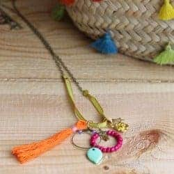 DIY: Colorful Charm Necklace with Tassels