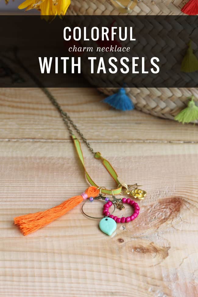 DIY Charm Necklace with Tassels   HelloGlow.co