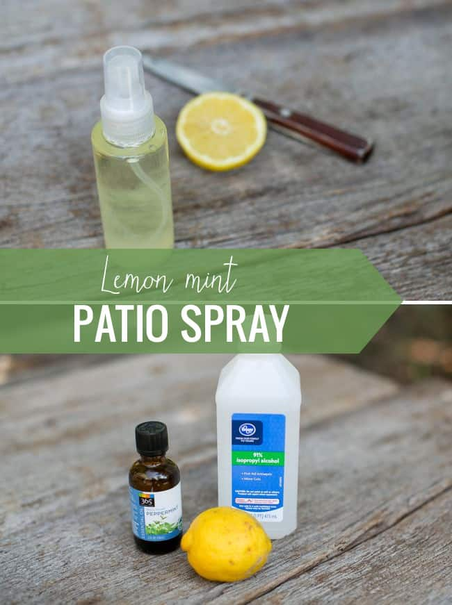 Lemon mint patio spray