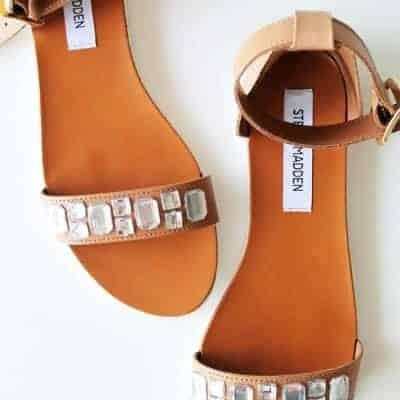DIY Crystal Embellished Sandals | Henry Happened