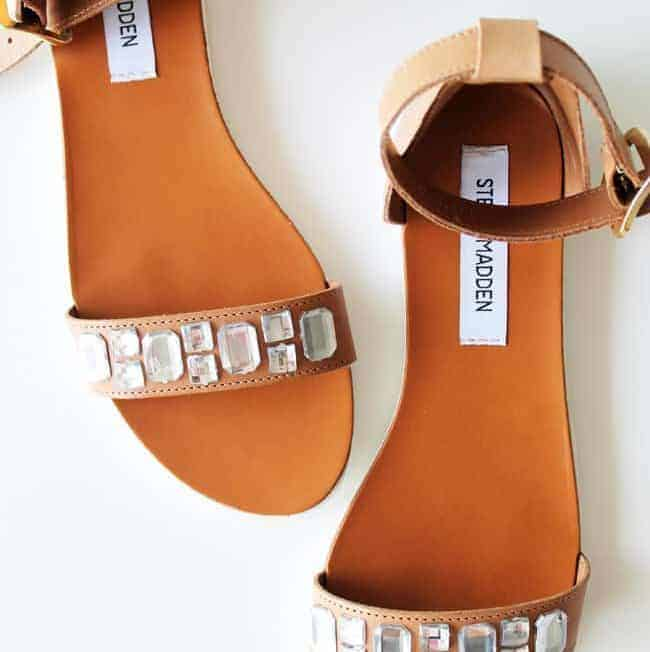 DIY: Crystal Embellished Sandals