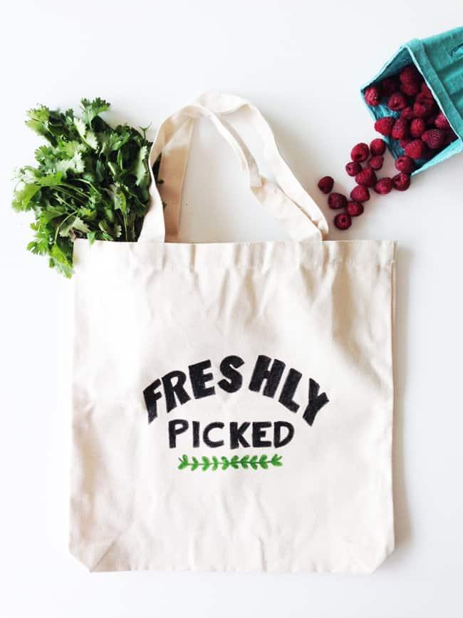 Farmer's Market DIY Tote Bag | Hello Glow