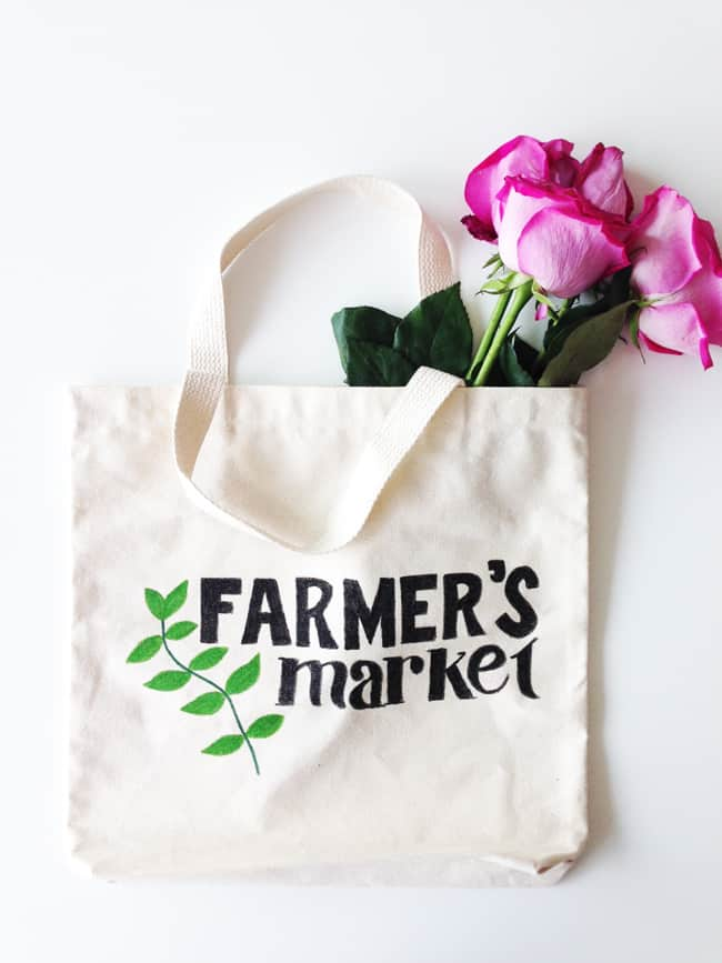 Farmer's Market DIY Tote Bag | Hello Glow