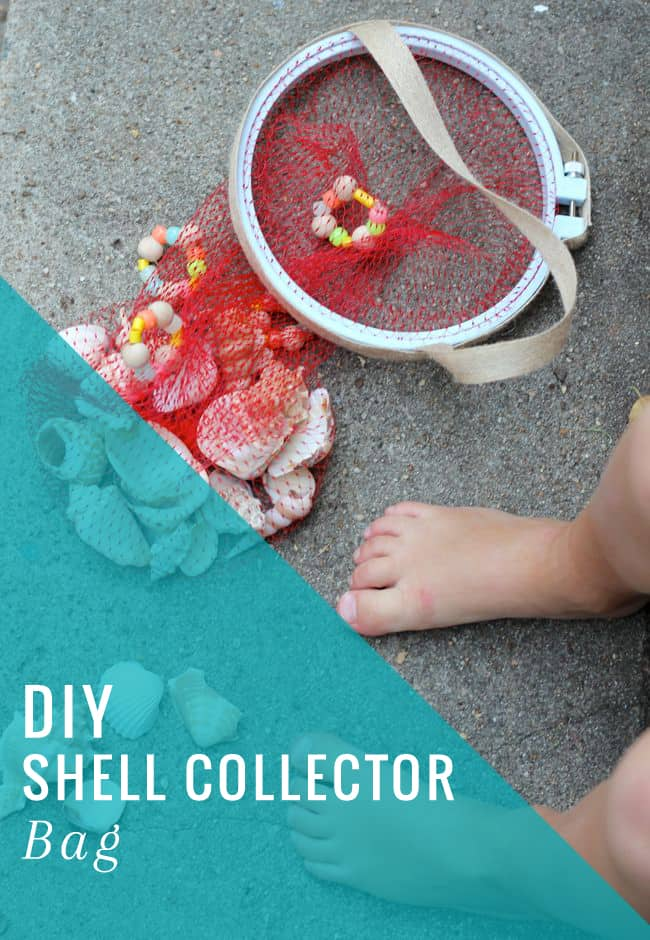 DIY Shell Collecor Bag | HelloGlow.co