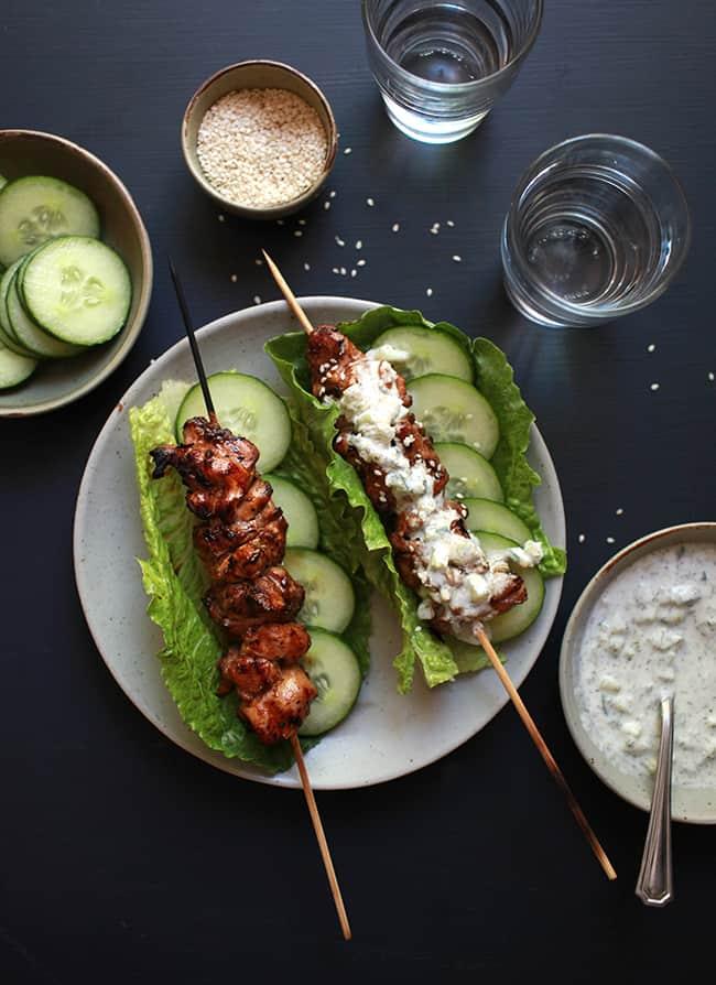 Ginger Tzatziki Chicken Wrap | Hello Glow