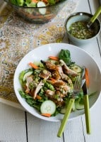 Sweet and Spicy Sriracha Chicken Salad | Hello Glow