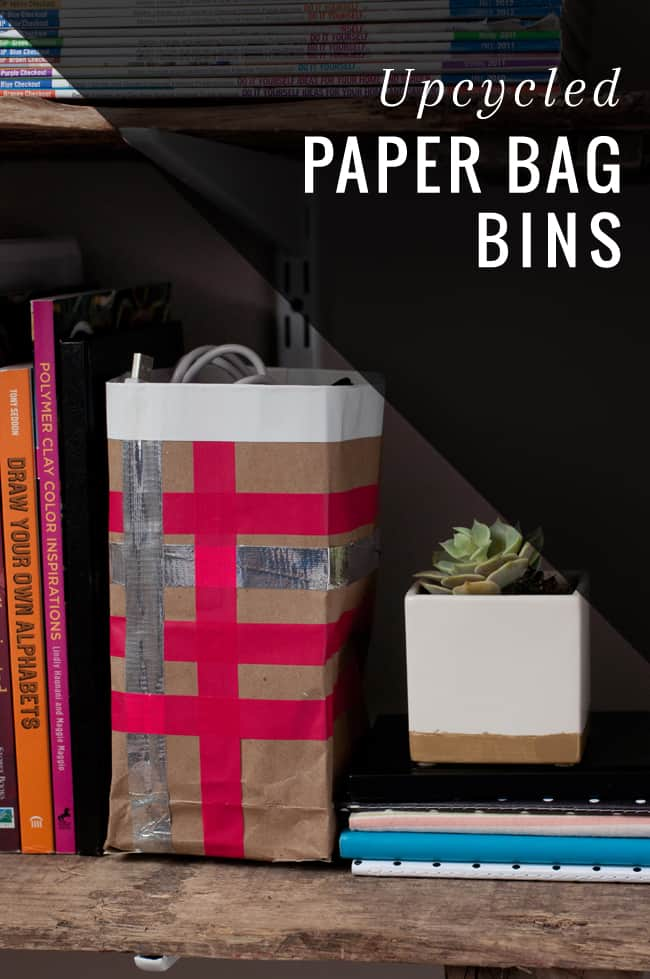 Upcycled Paper Bag Bins | HelloGlow.co