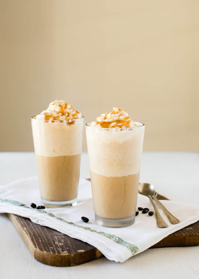 DIY Caramel Iced Coffee Frappe | HelloGlow.co
