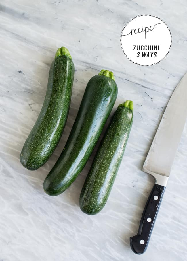 Zucchini 3 Ways | HelloGlow.co