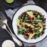 Beet Greens with Avocado and Creamy Tahini Dressing Recipe | HelloNatural.co