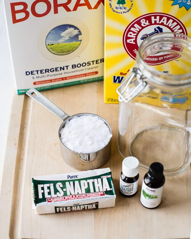 Homemade Laundry Detergent with Tea Tree + Rosemary | HelloGlow.co