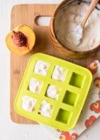 Peach Honey Frozen Yogurt Bites | HelloGlow.co