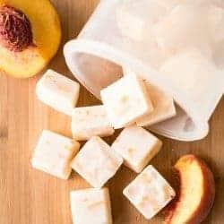 3-Ingredient Honey Peach FroYo Bites