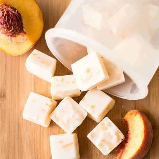 Peach Honey Frozen Yogurt Bites | HelloGlow.co