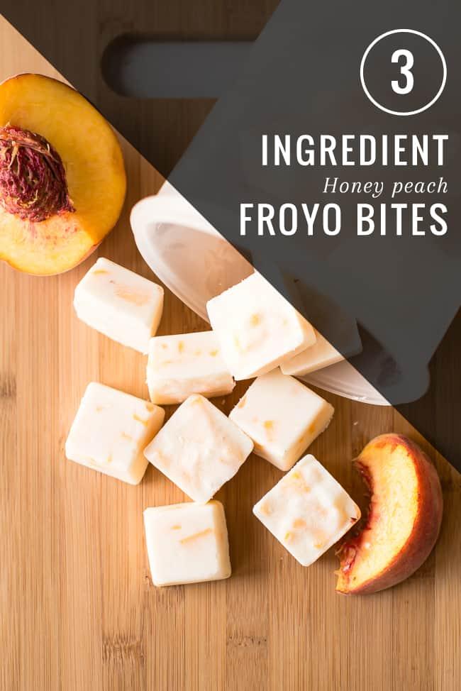 Peach Honey Frozen Yogurt Bites | HelloNatural.co