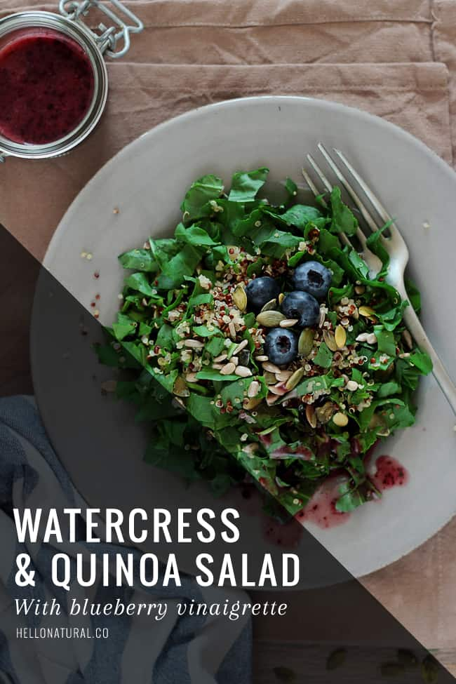 Watercress Quinoa Salad | HelloGlow.co