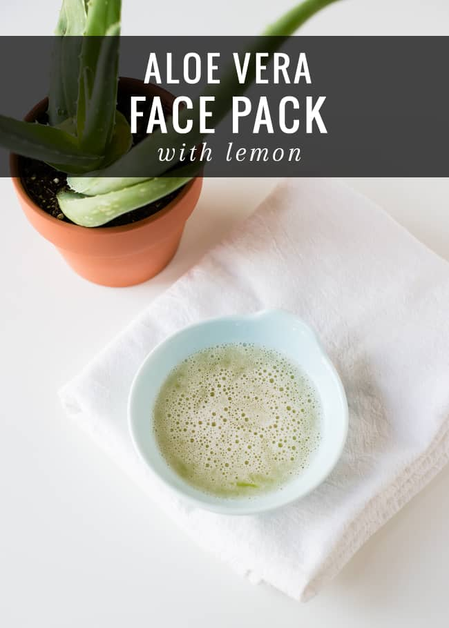 Aloe Vera Face Pack with Lemon | HelloGlow.co