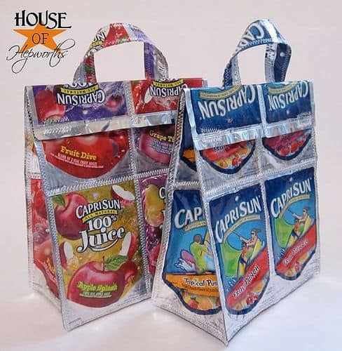 Recycled Capri Sun Pouches
