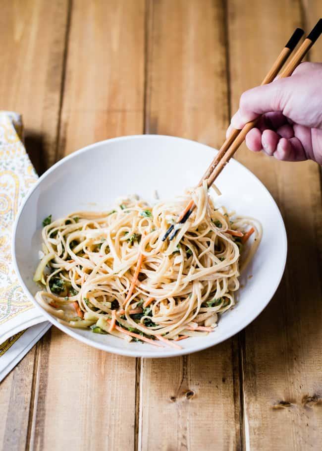 Spicy Cold Peanut Noodles Recipe   HelloGlow.co