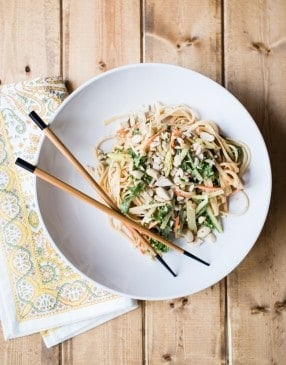 Spicy Cold Peanut Noodles Recipe | HelloGlow.co