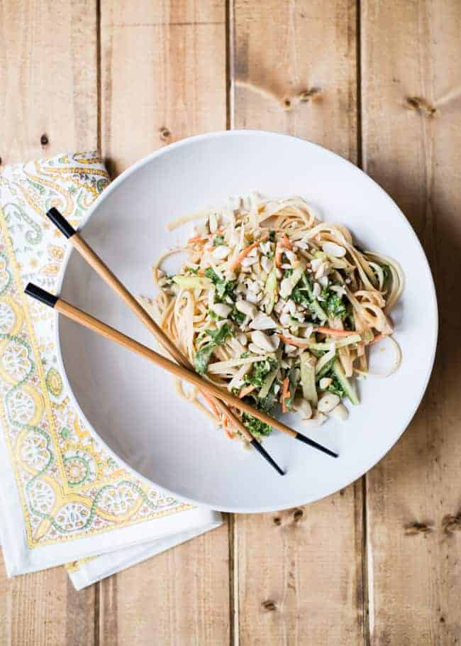 Sweet and Spicy Cold Peanut Noodles from Hello Glow