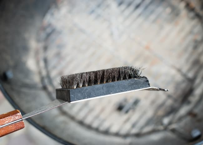 how to clean a grill - wire brush