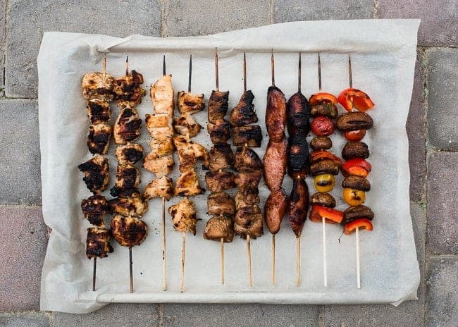 Grilled Kabobs 4 Ways | HelloNatural.co