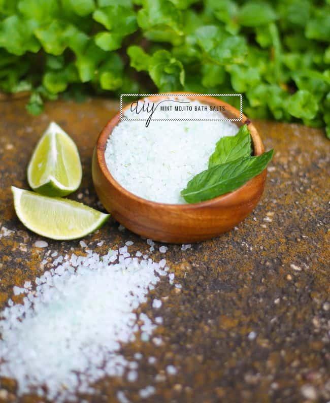 Mint mojito DIY bath salts