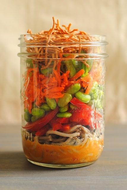 Asian Noodle Salad Jar