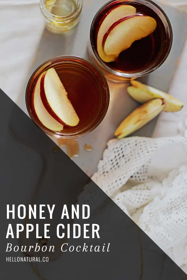 Honey Bourbon Apple Cider Cocktail | Hello Glow