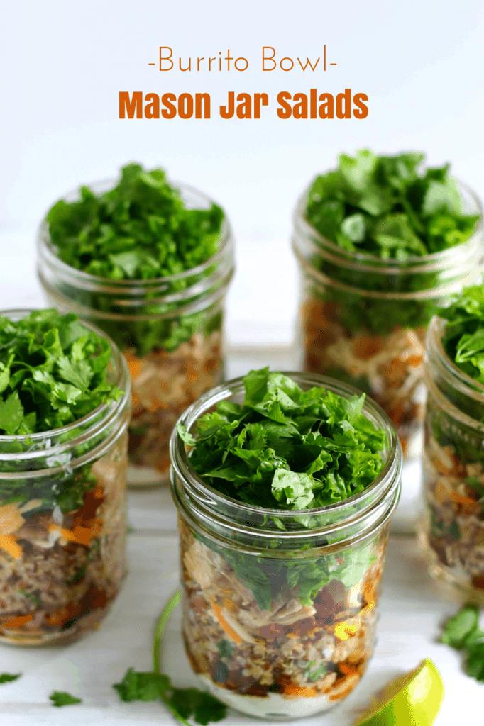 Burrito Bowl Mason Jar Salad