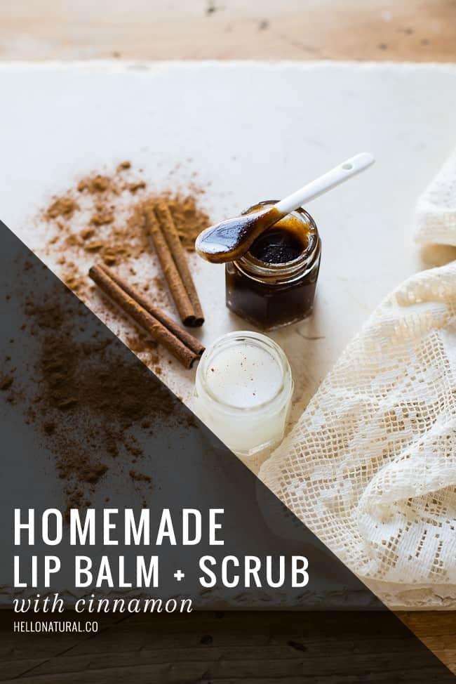 Homemade Lip Balm + Scrub with Cinnamon | HelloGlow.co