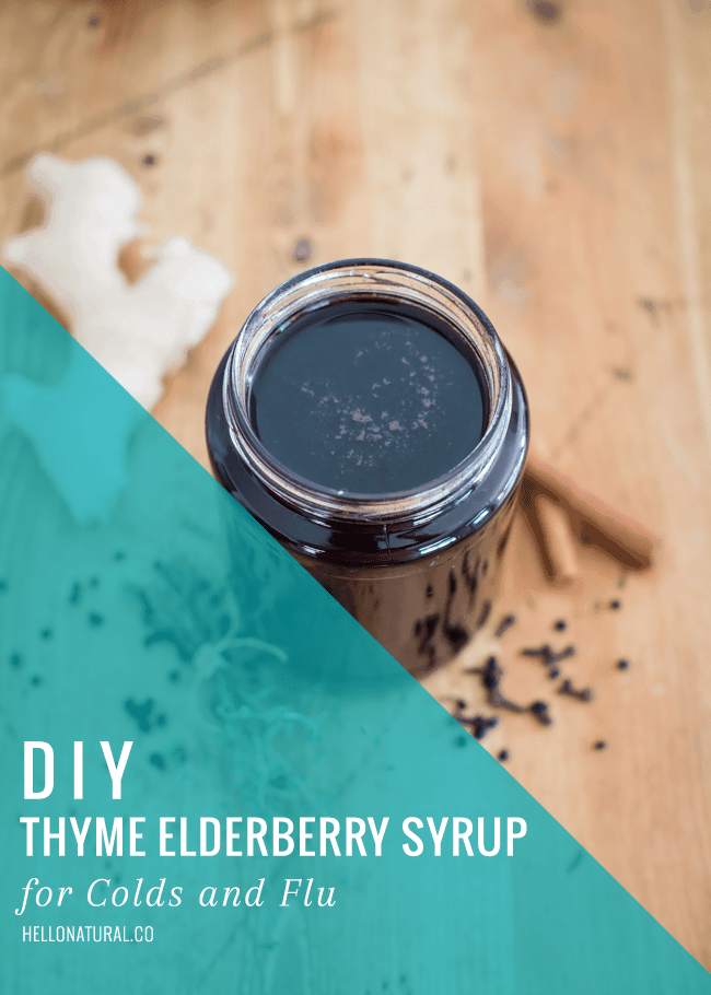 DIY Thyme Elderberry Syrup | HelloGlow.co