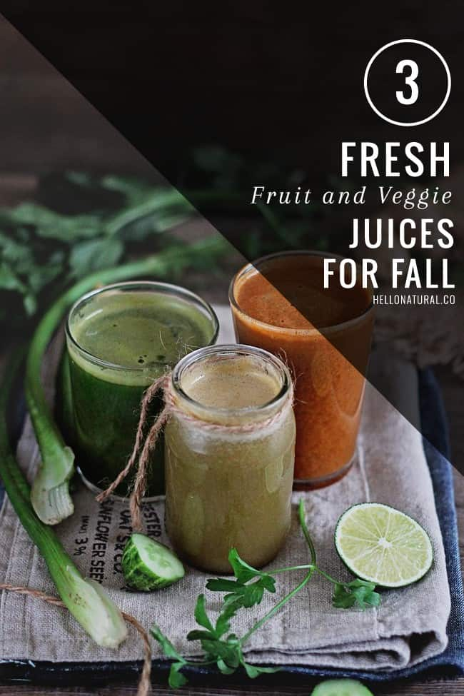 3 Juice Recipes for Fall | HelloGlow.co