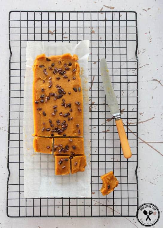 Caramel + Pumpkin Spice Fudge