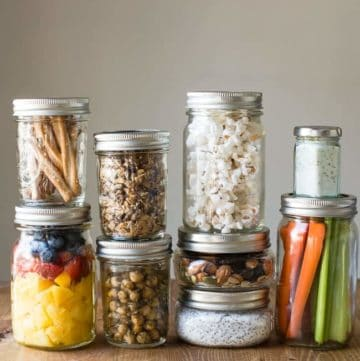 21 Healthy Mason Jar Snacks | HelloGlow.co