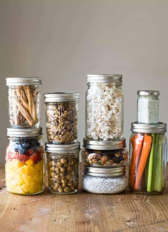 17 Healthy Mason Jar Snacks   HelloGlow.co
