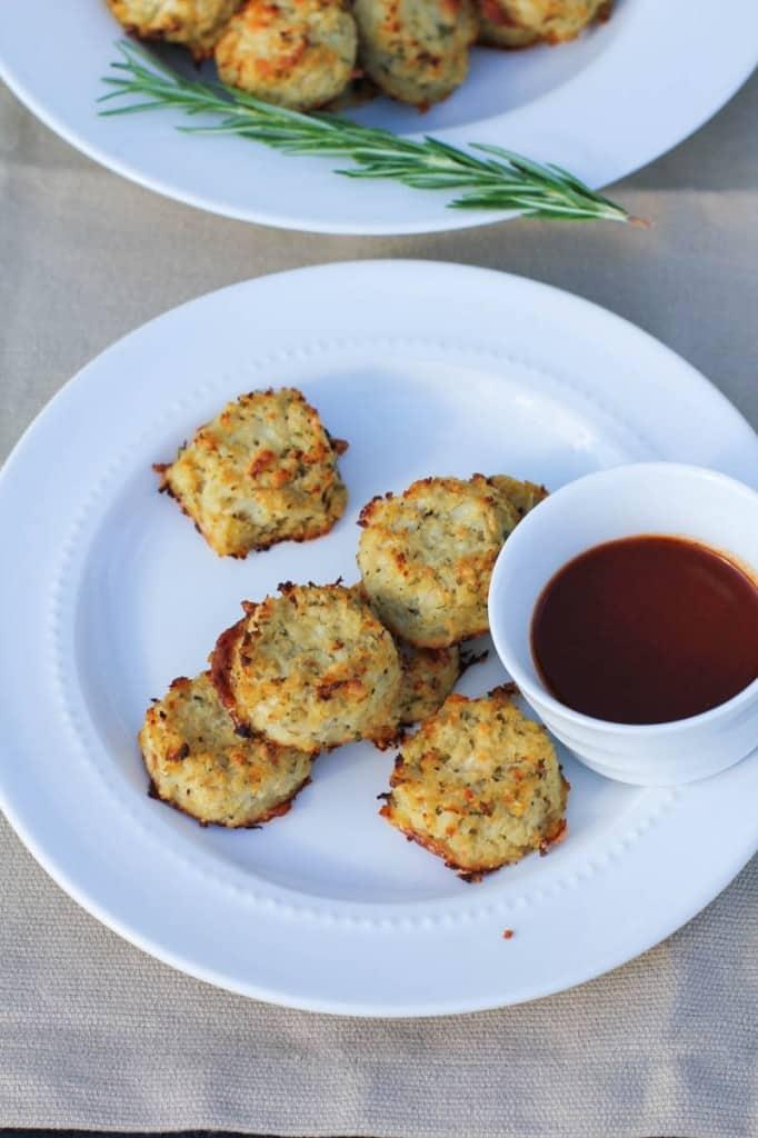 Parmesan Rosemarry Cauliflower Tots