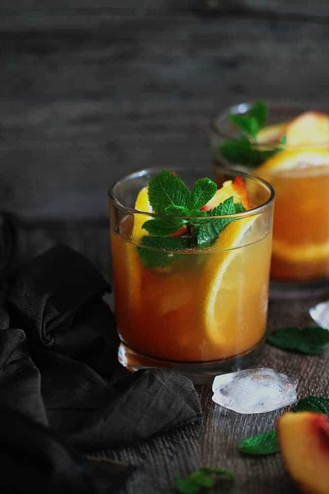 Resep Green Tea dan Peach Julep | HelloGlow.co