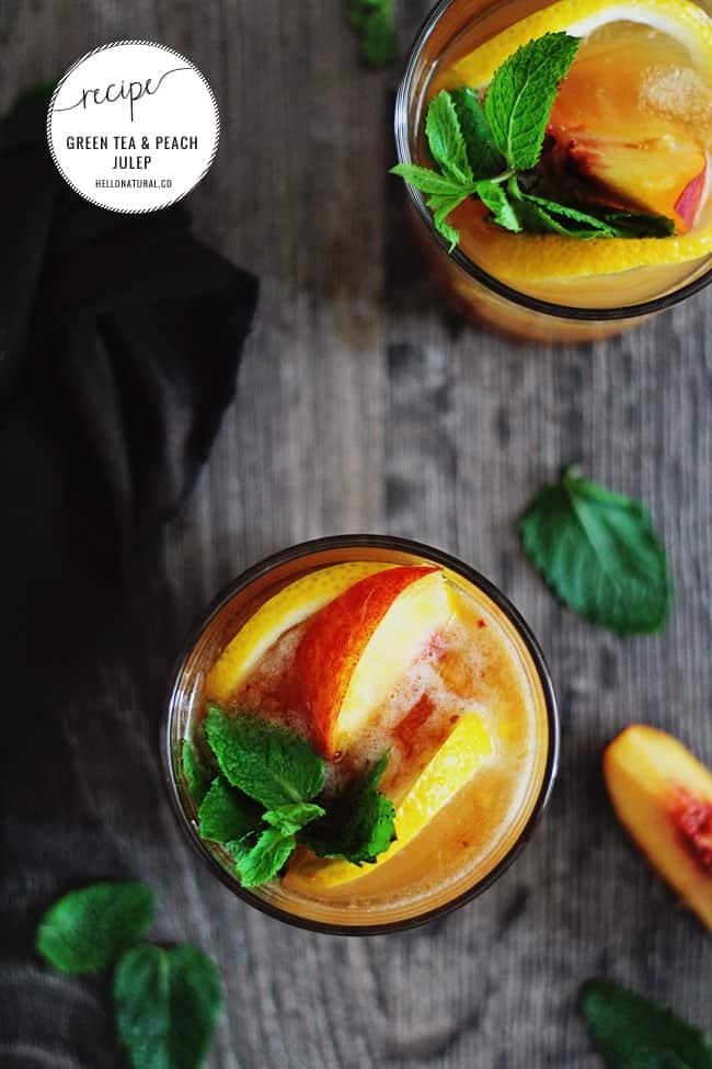 Green Tea and Peach Julep Recipe | HelloNatural.co
