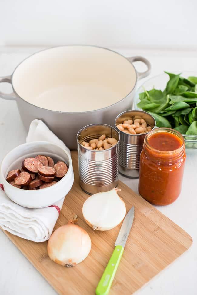White Bean and Sausage Soup | HelloGlow.co