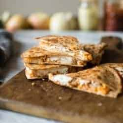 Sweet Potato Quesadilla with Goat Cheese and Apples