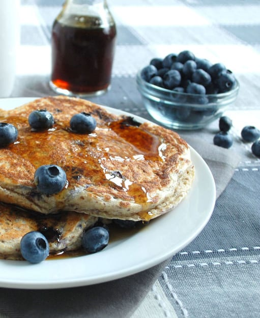Blueberry power pancakes