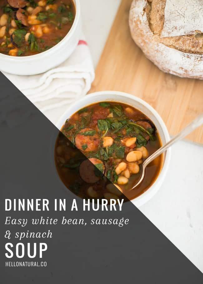 Easy White Bean Soup | HelloGlow.co