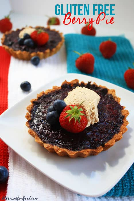 Gluten free berry pie