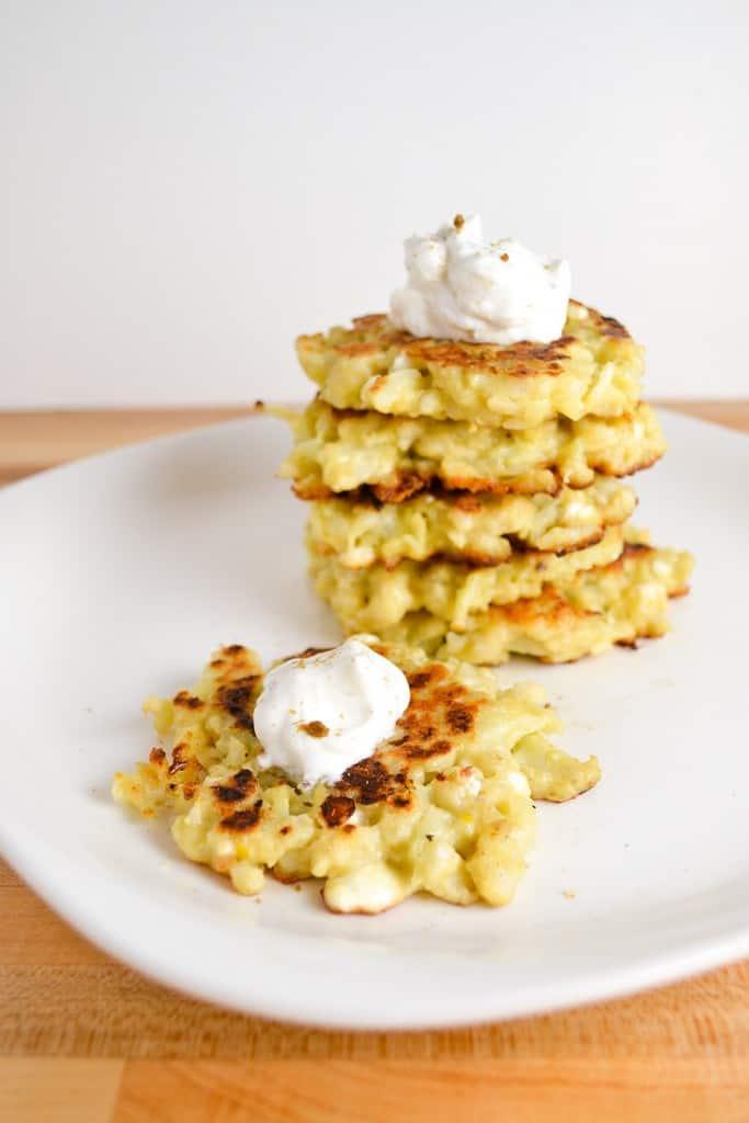 Cauliflower Feta Fritters